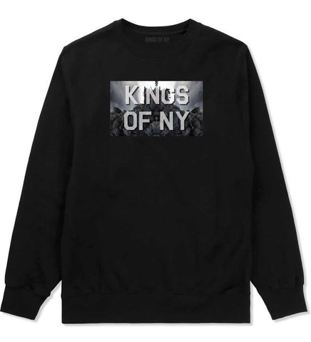Smoke Cloud End Of Days Kings Of NY Logo Crewneck Sweatshirt in Black By Kings Of NY