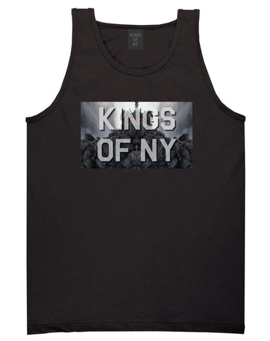 Smoke Cloud End Of Days Kings Of NY Logo Tank Top in Black By Kings Of NY