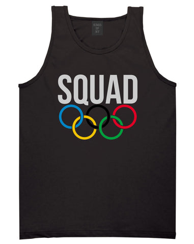Squad Olympic Rings Logo Tank Top in Black