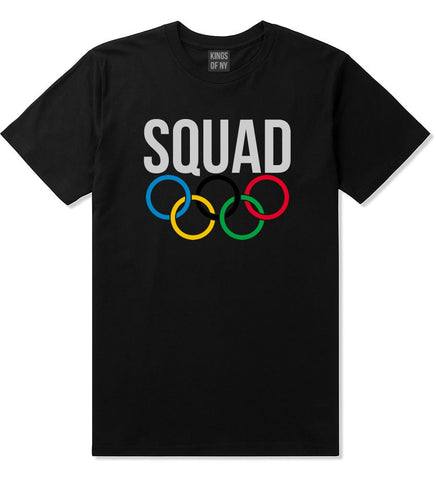Squad Olympic Rings Logo T-Shirt in Black