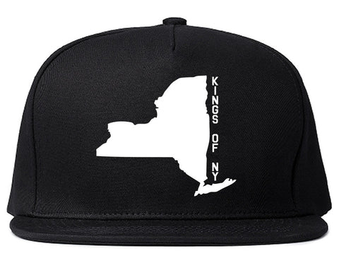 New York State Shape Snapback Hat By Kings Of NY