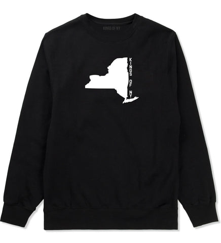 New York State Shape Crewneck Sweatshirt in Black By Kings Of NY