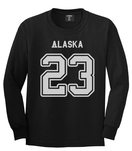 Sport Style Alaska 23 Team State Jersey Long Sleeve T-Shirt By Kings Of NY