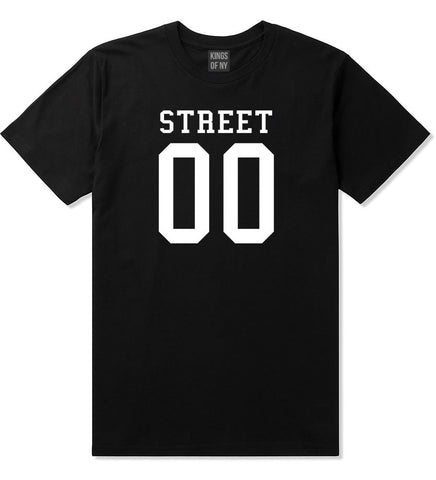 Street Team 00 Jersey T-Shirt in Black By Kings Of NY