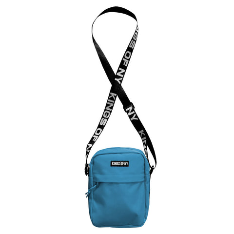 Teal Blue Logo Mens Shoulder Bag