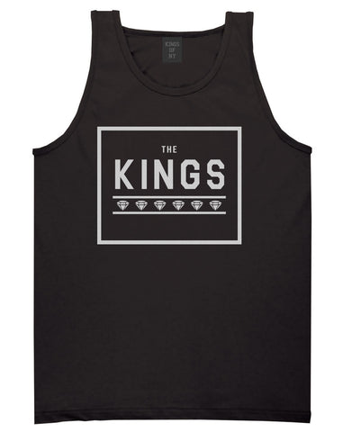 The Kings Diamonds Tank Top in Black by Kings Of NY