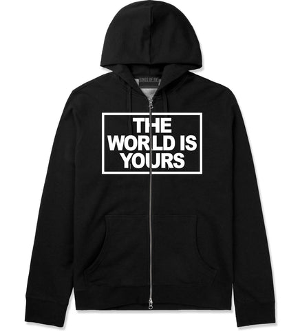 The World Is Yours Zip Up Hoodie in Black By Kings Of NY