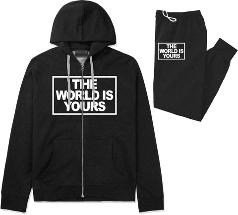 The World Is Yours Premium Sweatsuit in Black By Kings Of NY
