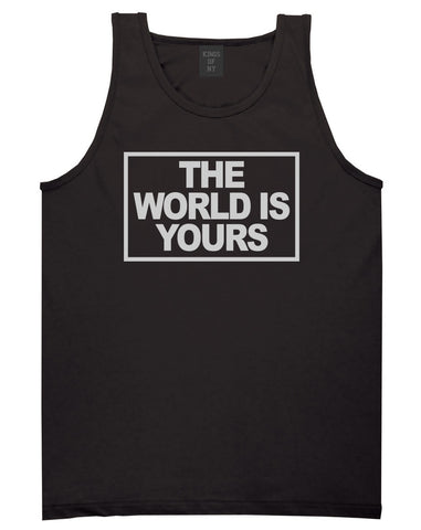 The World Is Yours Tank Top in Black By Kings Of NY