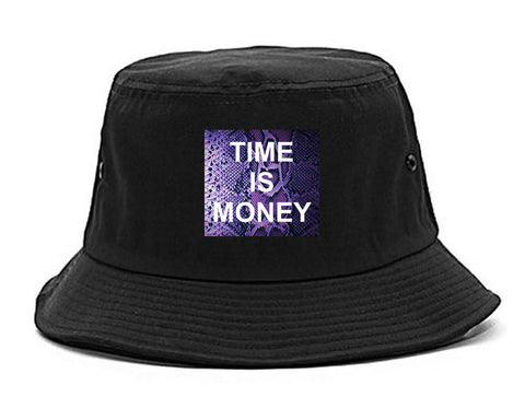 Time Is Money Snakesin Print Bucket Hat By Kings Of NY
