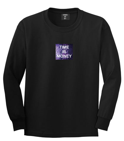 Time Is Money Snakesin Print Long Sleeve T-Shirt in Black By Kings Of NY