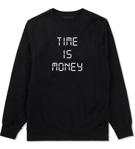 Time Is Money Crewneck Sweatshirt in Black By Kings Of NY