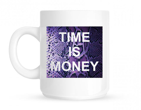 Time Is Money Snakesin Print Mug By Kings Of NY