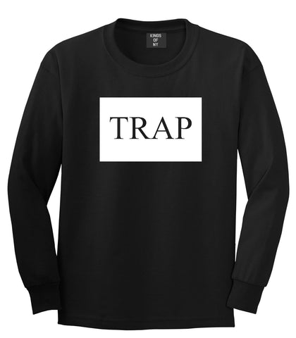 Trap Rectangle Logo Long Sleeve T-Shirt in Black By Kings Of NY