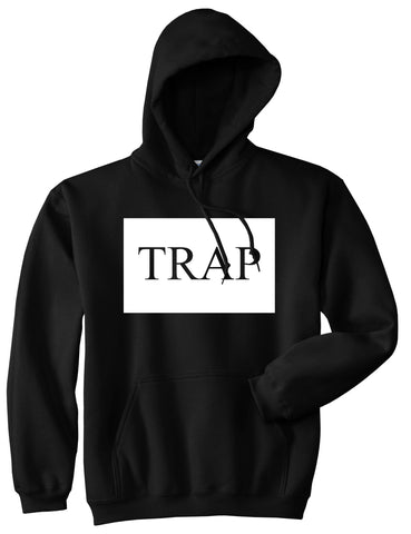 Trap Rectangle Logo Pullover Hoodie in Black By Kings Of NY