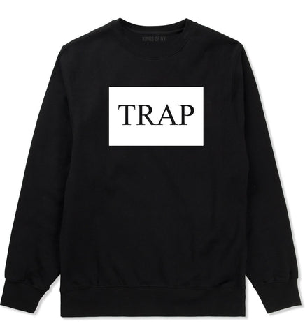 Trap Rectangle Logo Crewneck Sweatshirt in Black By Kings Of NY