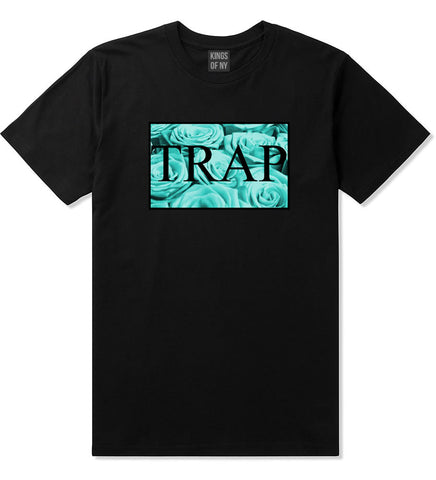 Trap Floral Style Hood Music Hood Dope T-Shirt In Black by Kings Of NY