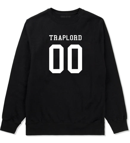 Traplord Team Jersey 00 Trap Lord Crewneck Sweatshirt in Black By Kings Of NY