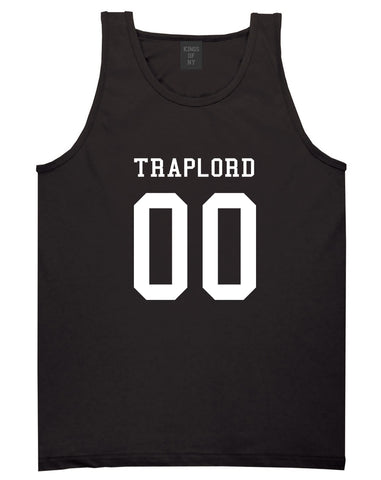 Traplord Team Jersey 00 Trap Lord Tank Top in Black By Kings Of NY