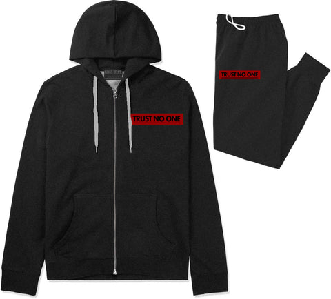 Trust No One Premium Sweatsuit in Black By Kings Of NY