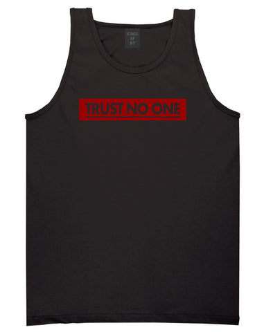 Trust No One Tank Top in Black By Kings Of NY