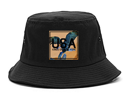 USA Bald Eagle America Bucket Hat By Kings Of NY