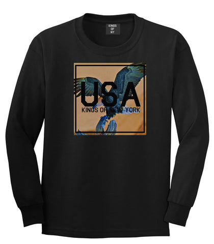 USA Bald Eagle America Long Sleeve T-Shirt in Black By Kings Of NY