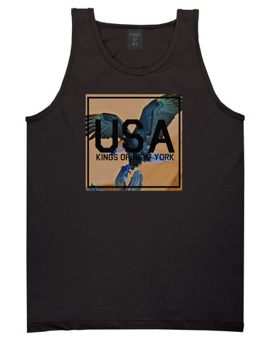 USA Bald Eagle America Tank Top in Black By Kings Of NY
