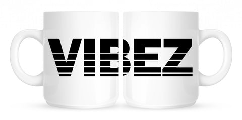 VIBEZ Racing Style Coffee Tea Mug in White by Kings Of NY