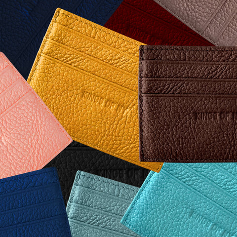 Kings Of NY Pebble Leather Card Holder Wallet (10 Colors)
