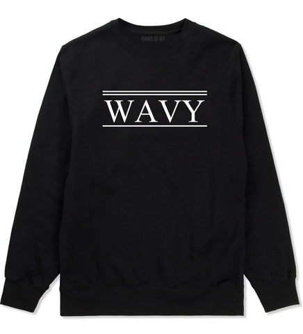 Wavy Harlem Crewneck Sweatshirt in Black By Kings Of NY