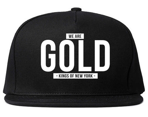 We Are Gold Snapback Hat by Kings Of NY
