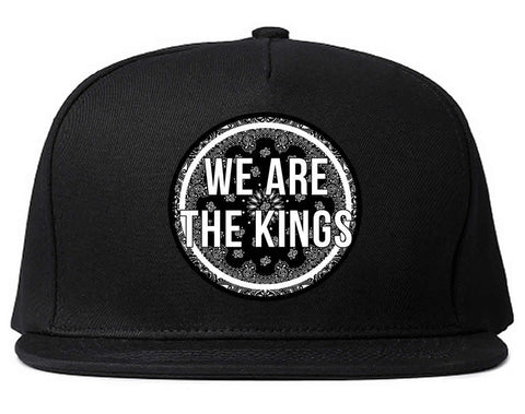 We Are The Kings Bandana Print Snapback Hat by Kings Of NY