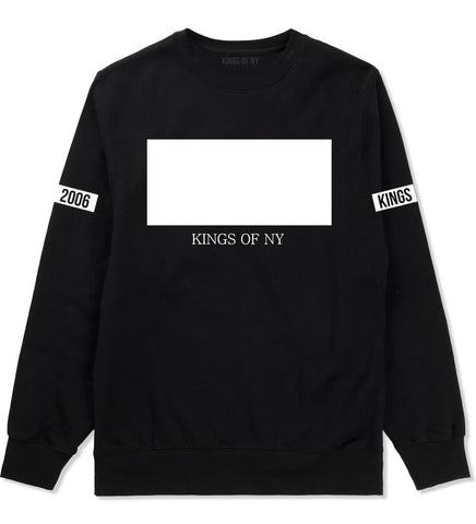 White Box Crewneck Sweatshirt in Black by Kings Of NY