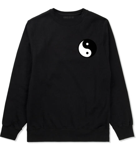 Yin and Yang Chest Graphic Crewneck Sweatshirt