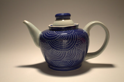 Blue Scale Teapot - 460 mL