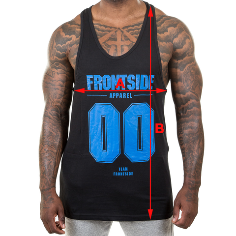 Frontside Apparel Gym Stringer Size Chart