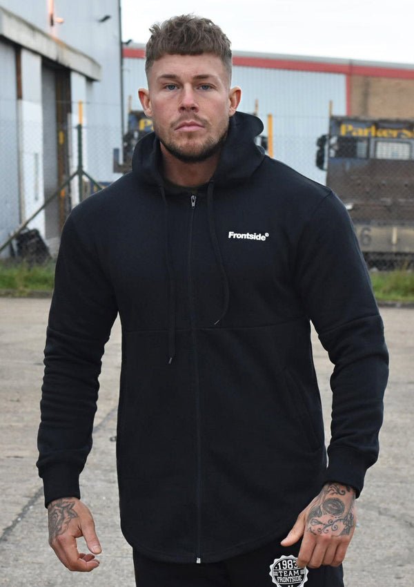 Mens Black Zip Up Hoodie - Frontside Apparel