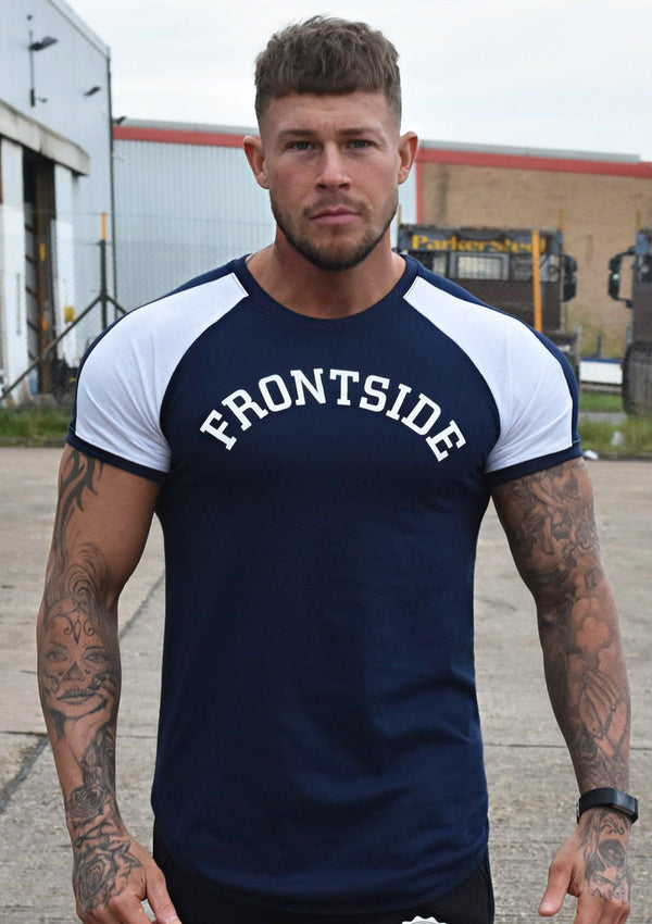 Mens Navy Fitted T-Shirt - Frontside Apparel