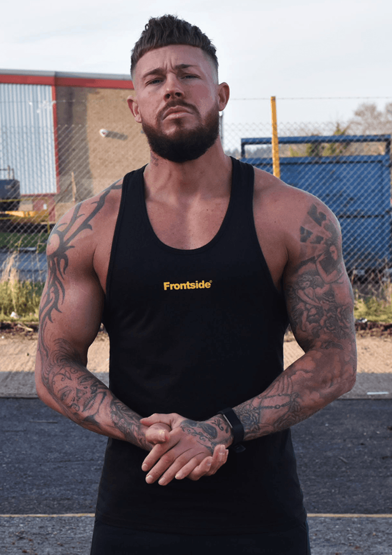 Men's Black Workout Vest - Frontside Apparel