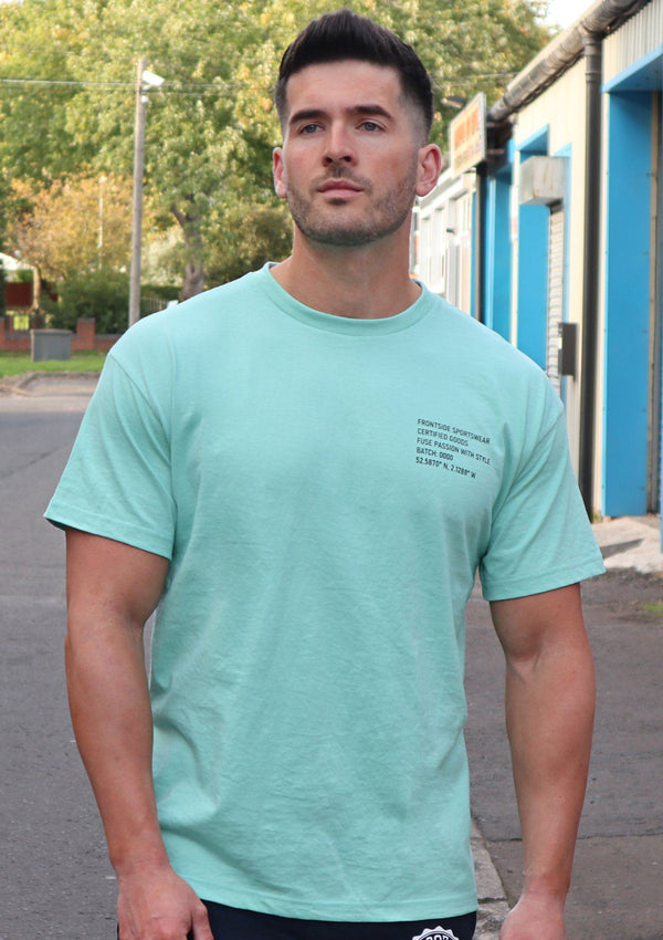 Mens Green Oversized T-Shirt - Frontside Apparel