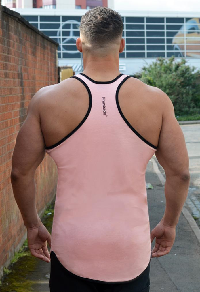 Men's Pink Longline Vest Top - Frontside Apparel