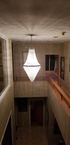 Modern Spaces and Crystal Chandeliers