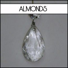 Chandelier crystals almonds