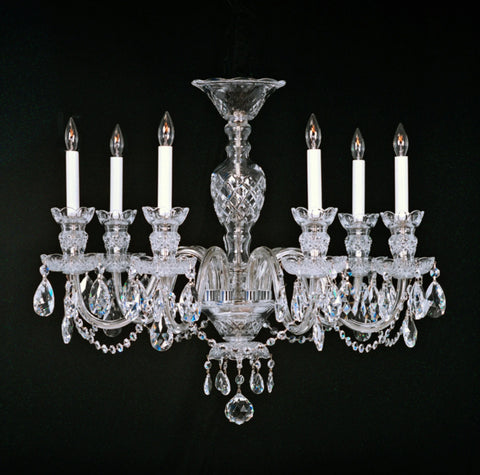 Chesapeake with arm to arm chandeliers