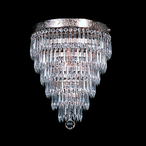 1920's inspired tier model Zelda chandelier with udrop crystals