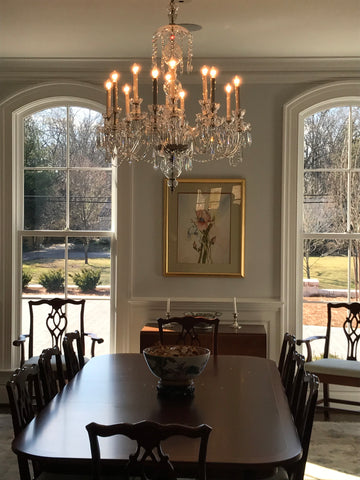How wide can your chandelier be in proportion to your table?