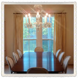 Custom Chandelier in Dining Room