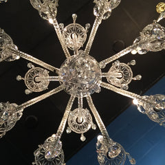 crystal chandelier from beneath