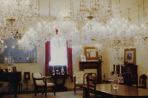 1980s chandelier showroom